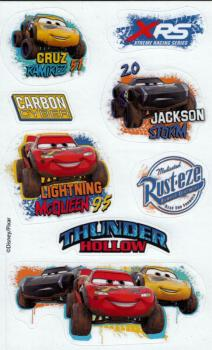 Cars paper sticker racing car