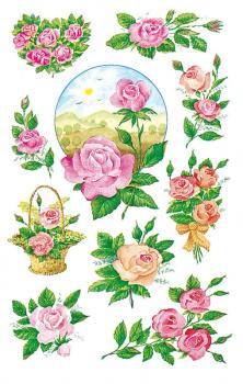 Flowers Paper Sticker Roses