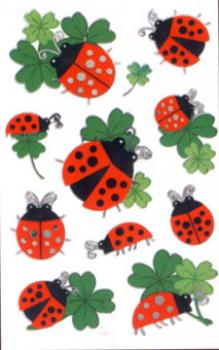 Clover Lucky Ladybug Stickers