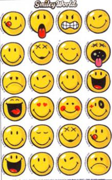Smiley Papier Sticker Emoticon