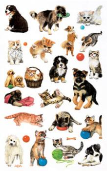 Dogs & Cats Paper Sticker
