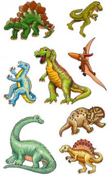 Dino fun paper sticker