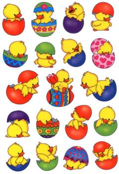 Easter Chicks Stickers