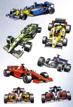 Formula 1 racing car stickers