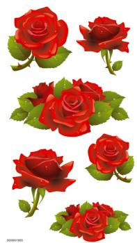 Handmade Sticker rote Rose