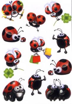 funny ladybird stickers
