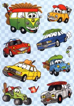 Wobble eyes stickers funny cars