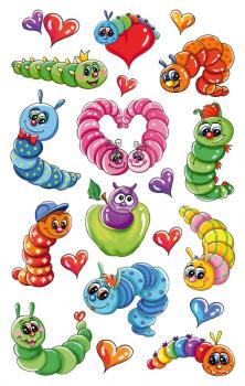 3D Sticker Caterpillars