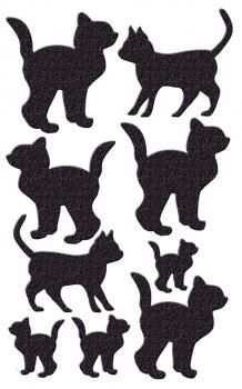 Precious black cat stickers