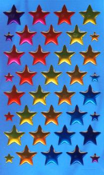 Crystal Sticker colorful stars