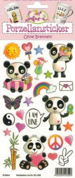 Porcelain Sticker Panda Decor