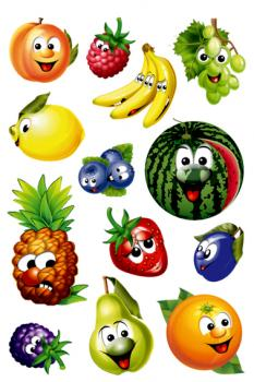Wobble eyes Sticker Fruits