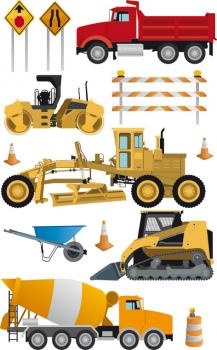 Construction vehicles and machines