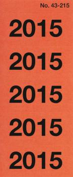 Year dates 2015 red