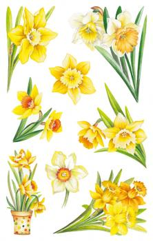 Flowers Sticker Yellow Daffodil Easter Bell