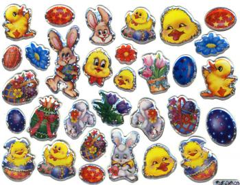 Crystal Sticker Ostern Glitzereffekte