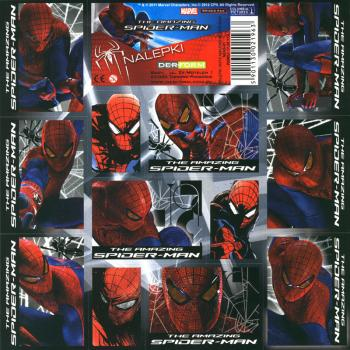 Spider Man Papier Sticker I 16x16