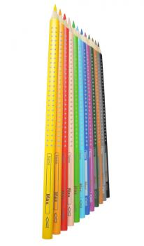 Faber-Castell 12 Colour Grip pens with names