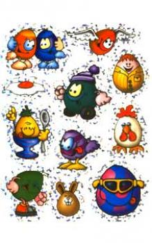 Ostern Sticker Papier Metalic