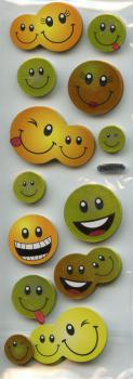 Metallic Sticker Collagen Smiley