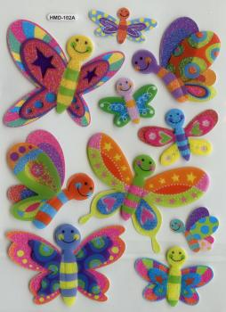 3D Glimmer Sticker Schmetterling