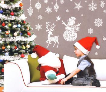 Wand fensterdeko vintage weihnachten kirche - Fensterfolie weihnachten ...