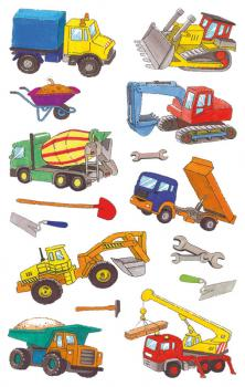 Construction machinery stickers