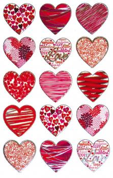 Effect foil sticker heart