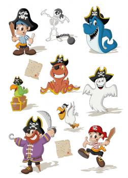 Glossy Sticker Piratenparty