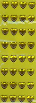 Sticker Golden Hearts Only