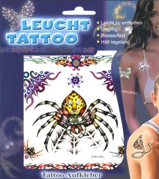 Leucht Tattoo Spinne