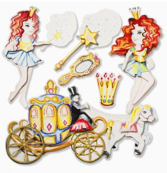 Wandsticker 3D-Optik XXL-Sticker Prinzessin IV
