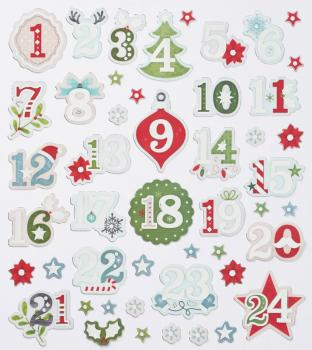 Design Sticker Advent numbers II