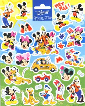 Mickey Minni Sticker blau
