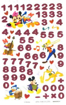 Mickey Minni Mouse Numbers Stickers