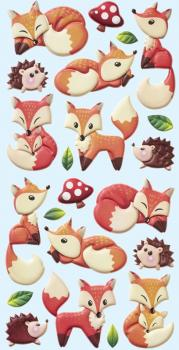 Foam Sticker Foxes V