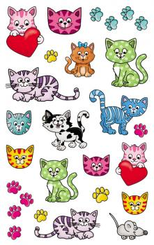 Metallic Stickers Kitten