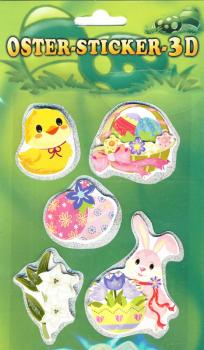 Collage Easter Sticker 3D VI