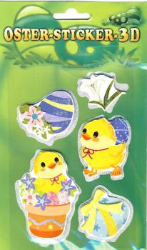 Collage Easter Sticker 3D VII
