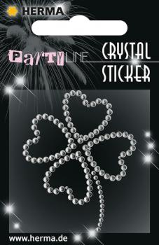 Party Line Crystal Sticker Kleeblatt