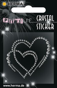 Party Line Crystal Sticker Liebevolle Herzen