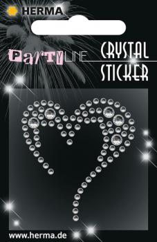 Party Line Crystal Sticker Herz