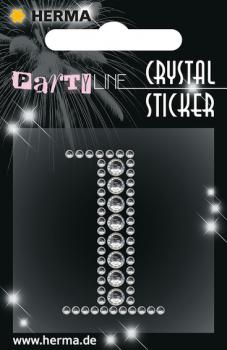 Party Line Crystal Sticker Zahl 1