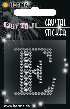 Party Line Crystal Sticker Buchstabe E