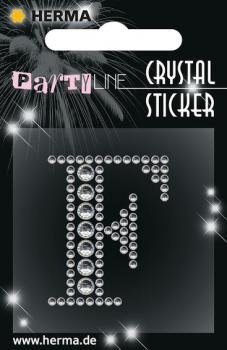 Party Line Crystal Sticker Buchstabe F