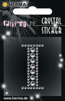Party Line Crystal Sticker Buchstabe I