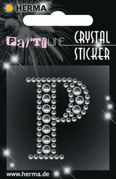 Party Line Crystal Sticker Buchstabe P