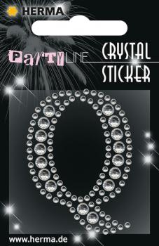 Party Line Crystal Sticker Buchstabe Q