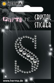 Party Line Crystal Sticker Buchstabe S