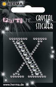 Party Line Crystal Sticker Buchstabe X